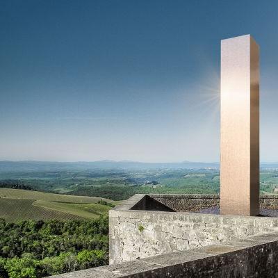 heinz_mack_silver_stele_visualisation_in_front_of_castello_di_broglio