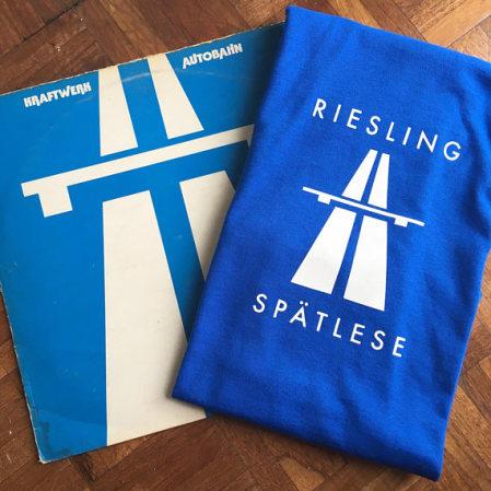 T-shirt Riesling Spaetlese Autobahn Kraftwerk